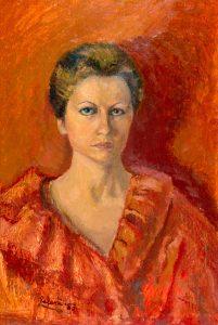 Paola ritratto rosso