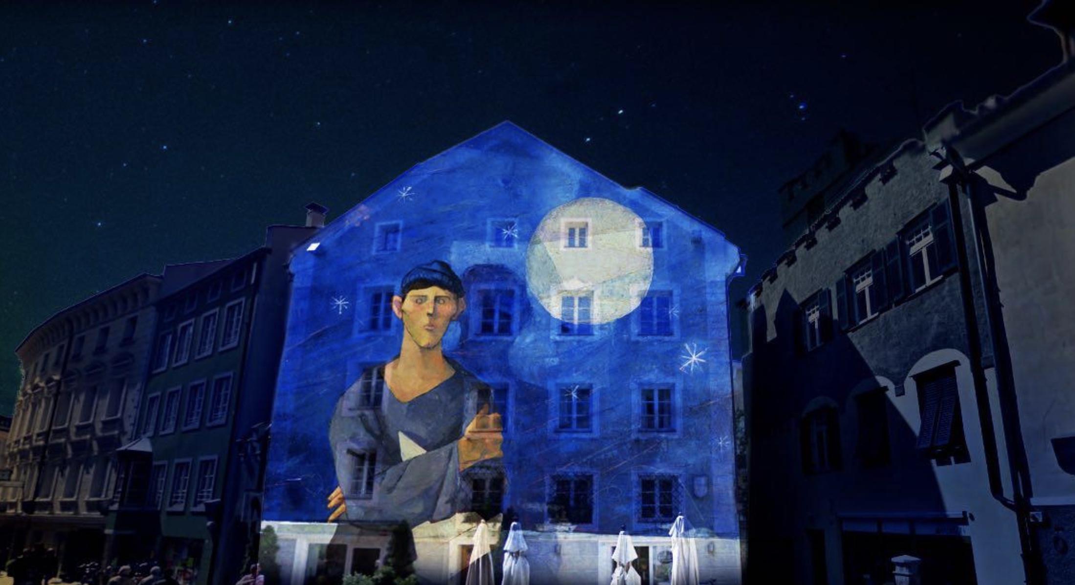 Water light festival Bressanone